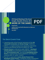 4TH Board Meeting of the Green Climate Fund