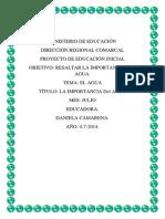 proyecto del agua de preescolar