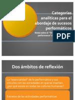 Schechner Teoria Del Performance Presentacion Del Cap 3