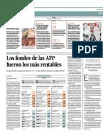 Fondos de AFP Fueron Los Más Rentables_El Comercio 4-07-2014