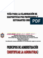 GUIA PARA ELABORAR DIAPOSITIVAS POR LOS PROFESORES Y ALUMNOS UNEFA.pptx