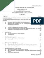 FC Path(SA) Anat Part I Past Papers - 2013 1st Semester 4-7-2014