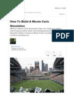 Monte Carlo Simulation Soccer