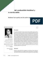 Calidad Del Combustible Biodiesel y La Norma ASTM