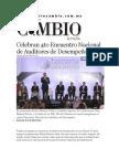 06-06-2014 Diario Matutino Cambio de Puebla - Celebran 4to Encuentro Nacional de Auditores de Desempeño.