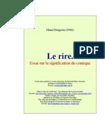 Henri Bergson Le Rire 1996