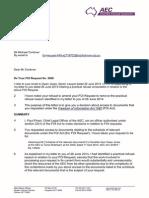 Australian Electoral Commission LS5069 FOI Paul Pirani Michael Cordover