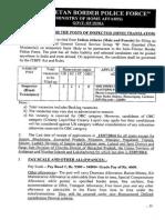 Notification ITBP Inspector Posts