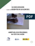 Cartilha Comunidades Quilombolas Novembro-2011