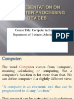 Computer ProcessingDevices
