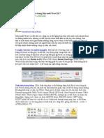 8 công cụ hữu ích sẵn có trong Microsoft Word 2K7