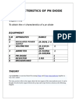 Charecterstics of Pn Diode