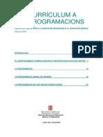 Del Curriculum a Les Programacions