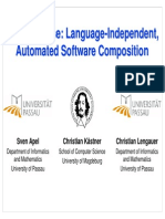 FeatureHouse Language-Independent, Automated Software Composition