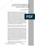 O Cooperativismo Paranaense e a Responsabilidade Social Empresarial Como Fator de Competitividade