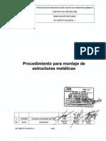 001 0000 PP K M 005 Rv1 Montaje de Estructura Metálica