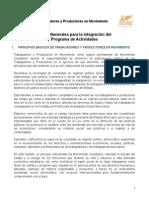 Programa de Actividades de Trabajadores y Productores en Movimiento.