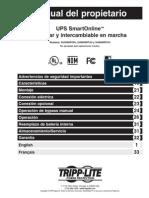 Owners Manual for Su5000rt4u Su6000rt4u Su8000rt4u Ups 932611 Es