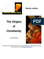Origins of Christianity (Revilo P. Oliver)