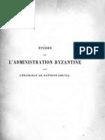 Études Sur l'Administration Byzantine Dans l'Exarchat de Ravenne (568-751) - Diehl (1888)