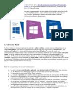 Activación Office 2013 y Windows 8.1 Pro
