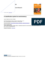A Classification System for Seed Dormancy