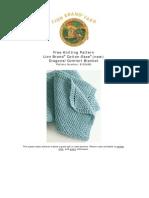 Free Knitting Pattern Lion Brand® Cotton-Ease® (New) Diagonal Comfort Blanket
