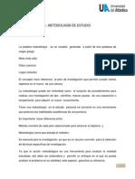 Metodologia de Estudio Cuerpo Del Trabajo