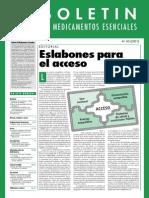 Boletín Medicamtos Escenciales OMS 2001