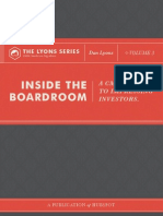 inside the boardroom a cmos guide to impressing investors