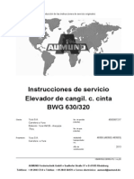 Elevador de Cangilones Con Cinta BWG 630-320