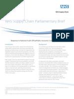NHS Supply Chain Parliamentary Brief