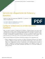 Servicio de Compartición de Ficheros y Dominios — Documentación de Zentyal 3