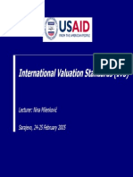 International Valuation Standards for appraiser
