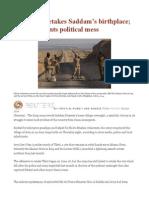 Iraq Army Retakes Saddam's Birthplace Sistani Laments Political Mess