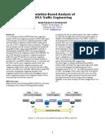 Simulation-Based Analysis of MPLS-Traffic Engineering
