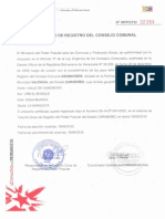 Certificado de Registro Asomangos en Fundacomunal