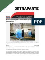01-07-2014 Contraparte - Puebla privilegió licitación abierta para los verificentros.