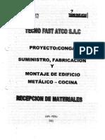 9.0 Recepción de Materiales i