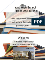 Instructional Power Point Waupaca Hs Library Last Version