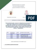 Informe de Investigacion Estadistica 2013