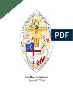 St. Francis Episcopal Church Sub-Deacon Manual
