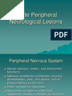 Acute Peripheral Neurologic Lesions