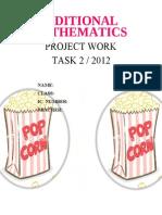 Add Math project popcorn sample