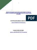 Bases Estandares de Adjudicacion Publica Directa