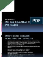 Hak Dan Kewajiban Dokter Dan Pasien