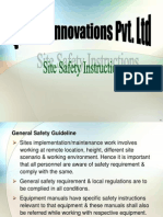 Site Safety Instructions