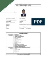 Corriculum Vitae . Jose Evelio Aguiño