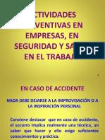 Actividades Preventivas en Empresas, En Seguridad y