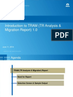 Introduction to TRAM Report